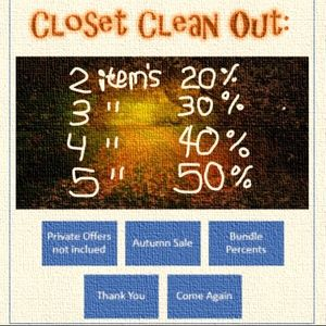  Closet Clean Out ❄️ Sale! Up to 50% off!